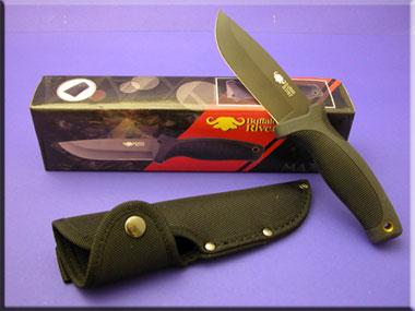 Buffalo~River Jagdmesser BRKM-100 Black-Coated