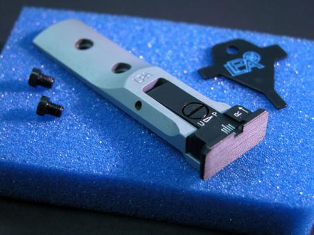 """LPA TXT 01-07 Mikrometer Visier """"SILBER"""" für S&W Revolver"""