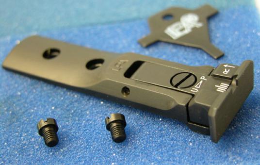 """LPA TXT 04-07 Mikrometer Visier """"SCHWARZ"""" für S&W Revolver"""