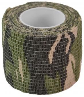 "Camo Stretchtape Tarnband ""US-Green-Camo"" (EUR 244,22 /100 Lfm)"