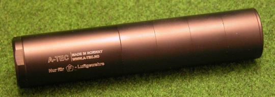 A-TEC Modular Schalldämpfer für F-Luftdurckwaffen, Gewinde 1/2x20 UNF, 5-Kammern