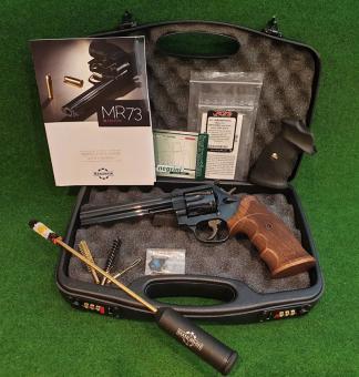 """MANURHIN MR73 """"SPORT"""" 6""""Zoll Lauflänge, .357 Magnum, Nill Nussbaum Griff +Trausch Gummigriff"""