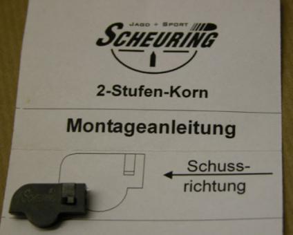 Scheuring-Waimex 2-Stufenkorn für S&W Revolver zum verstiften