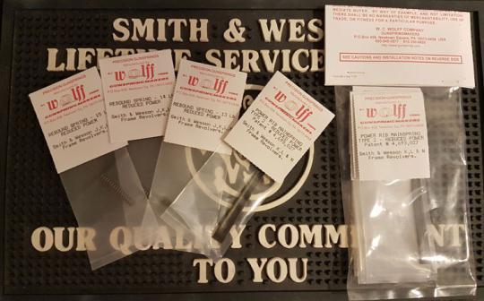 WOLFF Custom Tuning Federsatz für S&W Revolver K-L-N Rahmen Smith & Wesson 686 586 629 617 66 etc